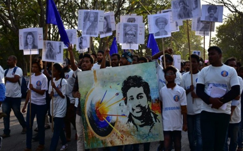 Rohith Vemula's death anniversary: His mother vows to fight communal forces
