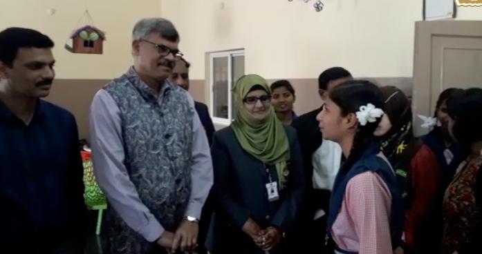 Jai R Krishna Visits Telangana Minority Residential School, Bahadurpura