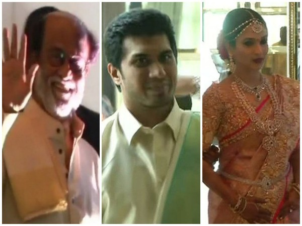 Rajinikanth's daughter Soundarya ties the knot