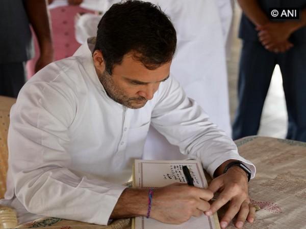 Image result for rahul gandhi at sabarmati ashram