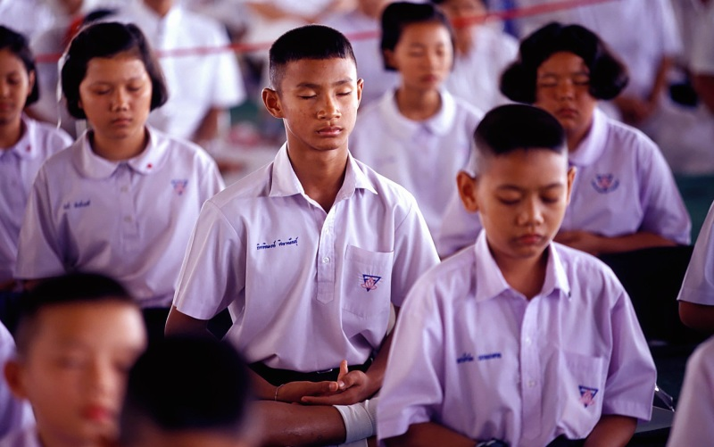 Social-emotional learning can be developed via meditation in middle school students