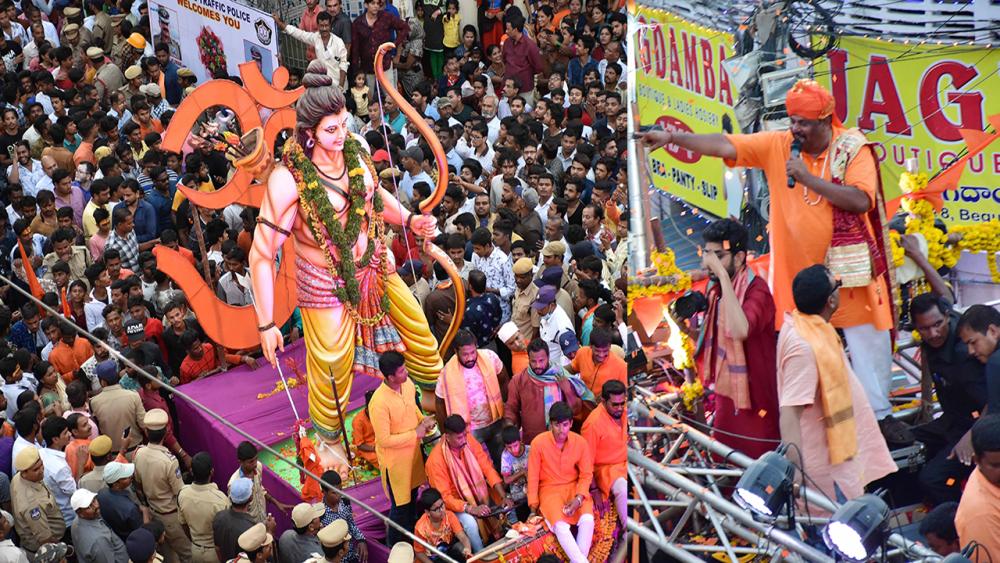 Rama Navami Shobha Yatra procession in Hyderabad