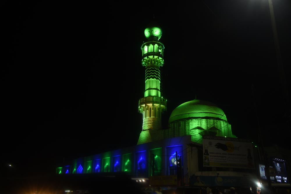 Mosques illuminated