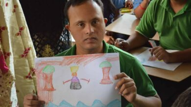 Photo of 'Taare Zameen Par' painting competition for differently abled