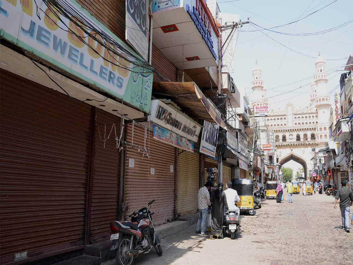 Charminar shops closed in support of