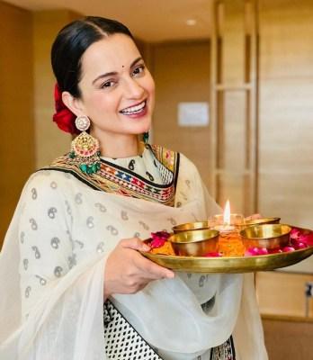 Kangana Ranaut welcomes 'devi' home on Diwali